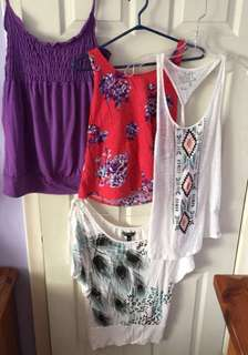 4 Summer Tops Medium