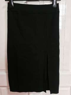 Black Pencil Skirt w/ Slit