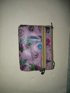 Purple Pairs themed wallet With key chain attached inside