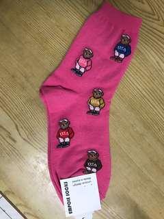 🚚 粉紅熊長襪