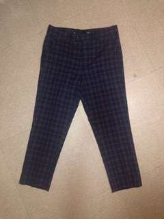 SMYTH (SM Youth) Cropped Plaid Trousers