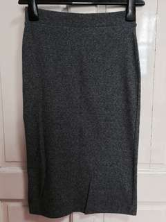 H&M Divided Grey Pencil Skirt