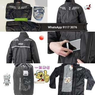 0206*** Givi Raincoat RRS04 Black & Red 🤣🤣Thanks To All My Buyer Support 👌👌
