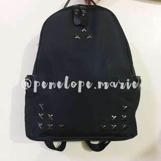 Studded Nylon Backpack (Black) + Free Shipping*