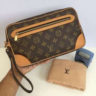 Authentic LOUIS VUITTON Marly Draggone Clutch Bag