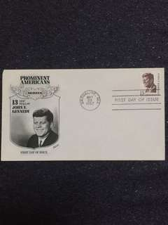 US 1967 13c JF Kennedy Fleetwood FDC stamp