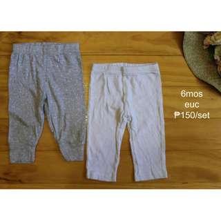 Preloved Used Leggings Pants for Infant Baby Toddler Girl Set