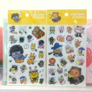 (包郵2張)🇰🇷Kakao Friends Costume Sticker 貼紙