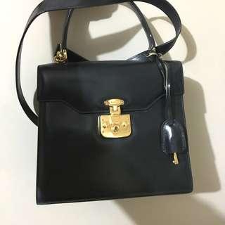 Gucci Navy Two Way Diana Bag Vintage 兩用手挽款