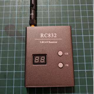 FPV Video Receiver - 5.8GHz, RC832