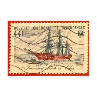 法屬New caledonie 船隻纪念郵票