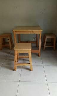 Meja makan mini SET meja + 4 kursi mini