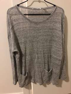 Grey Country Road Jumper