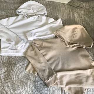 2/$15 Cropped F21 Hoodies Size Small