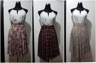 Bundle of 3 Spandex Printed Skirts (24 to 34 inches)
