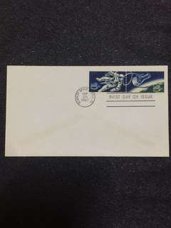 US 1967 Space Accomplishment Se-Tenant Pair FDC stamps
