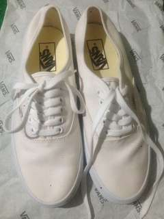 Vans authentic full white like new
