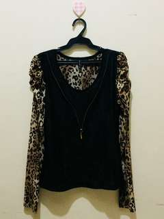Leopard Office Blouse