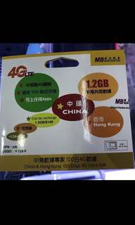 中國120日1.2GB上網卡