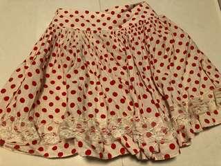 日系紅色波點裙Skirt