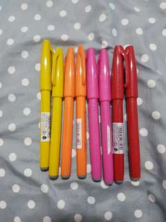 Pentel fude touch calligraphy markers