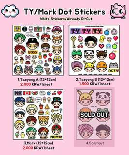 [MY G.O] NCT MARK TAEYONG STICKERS