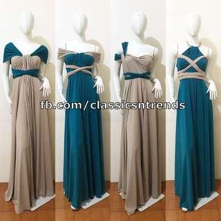 FREE SHIPPING! Two-Tone Bridesmaid Infinity Dress
