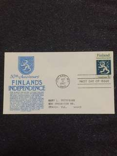 US 1967 Finland FDC stamp