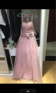 粉紅色晚裝,伴娘姊妹裙