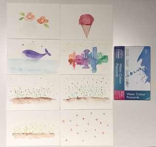 Water colour postcards