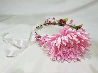 Turun harga! Flower crown untuk prewedding wedding foto