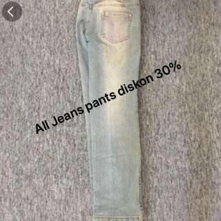 All jeans diskon 30% off