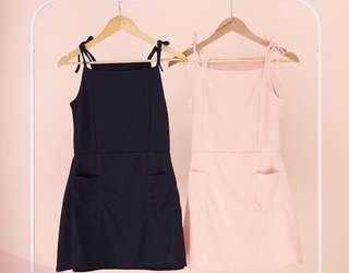 Tie dress with pocket