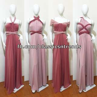 FREE SHIPPING! Two-Tone Bridesmaid Infinity Dress