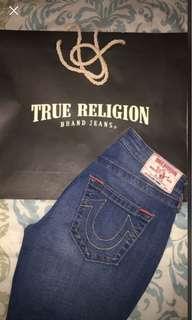 Medium wash True Religion jeans :28in