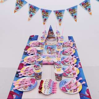 💕 Shimmer and Shine Party supplies - flag banner / bunting / party deco