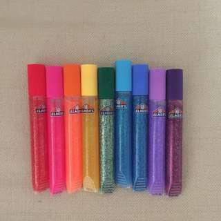 All For $10 - BN Authentic Elmer's glitter glue. 9pcs 10.5mls each.