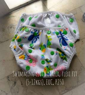 Pre loved swimming cloth diaper