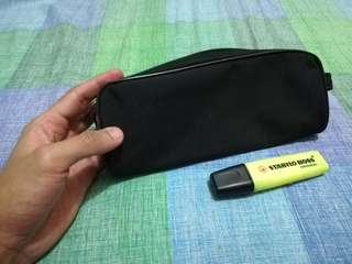 Cloth Zip Pouch/Pencil Case (Black)