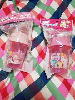 Hello Kitty and My Melody Tumbler with Straw
