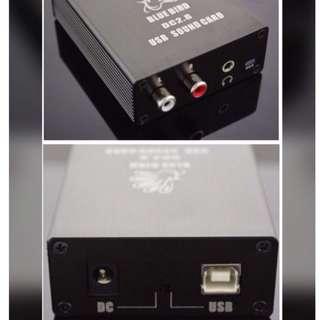 DAC Digital Analog Converter  Input : PC or Mac USB Output: RCA or 3.5mm