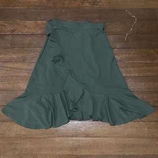 Wrap around ruffle skirt