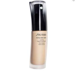 shiseido synchro skin Long lasting foundation Golden 1 & Golden 2