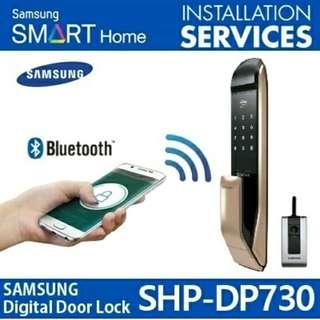 Samsung Digital Locksets (Gold/Black) *Pin  *Key-Tag  *Card *Solid Dimple-key  *****Optional Remote @$80.00/-per*****
