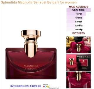 Bvlgari magnolia sense 5ml