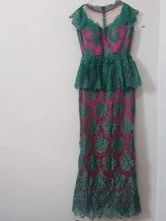 Dress Brokat Modern
