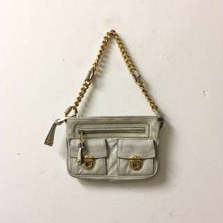 AUTHENTIC Marc Jacobs Beige Cammie Quilted Leather with Chain Handbag
