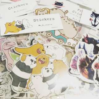 Stickers - We Bare Bears, Anime, Games & many more custom made