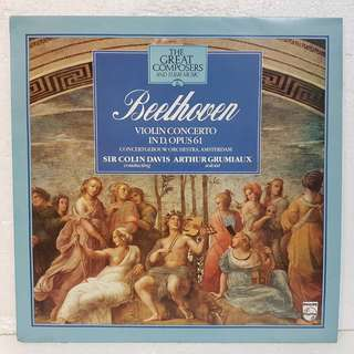 Classical 》Beethoven - Violin Concerto in D Op 61 Vinyl Record