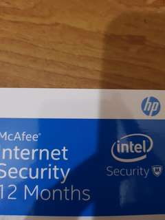 McAfee security for HP